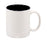 11 oz. White/BlackCeramic Mug