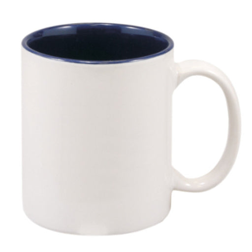 11 oz. White/BlueCeramic Mug