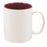 11 oz. White/MaroonCeramic Mug