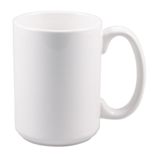 15 oz. WhiteCeramic Mug
