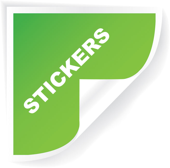 "2.75""x8.5"" STICKERS w/o UV"