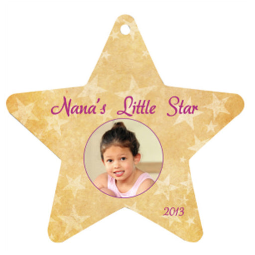 "3.98"" x 3.81"" Gloss White UniSub Aluminum Star Ornament"
