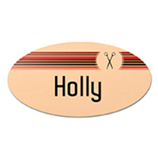 "3"" x 1.5"" Gloss Gold UniSub Aluminum Oval Name Badge"