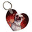"2.25"" x 2.5"" Gloss White FRPHeart 2-Sided Keychain"