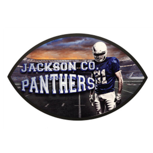 "6"" x 10"" UniSubFootball Plaque with Black Edge"