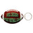 "3"" x 1.875"" Gloss White FRPFootball 2-Sided Keychain"