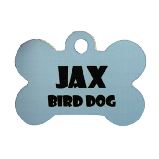"1.5"" x 1"" Gloss WhiteAluminum Dog Bone Pet Tag"
