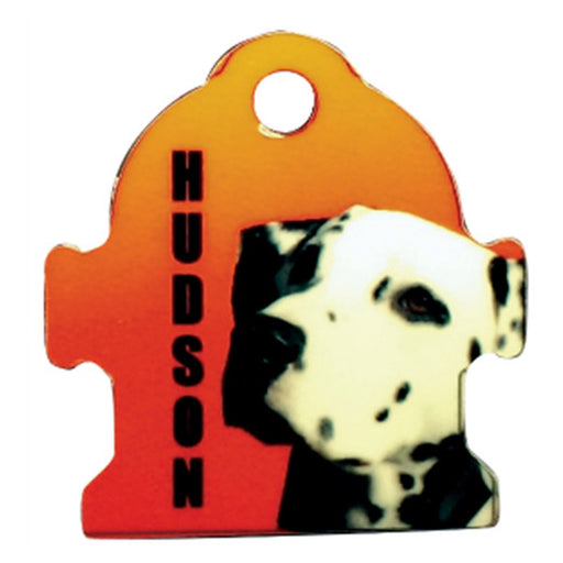 "1.2"" x 1.25"" Gloss WhiteAluminum Fire Hydrant Pet Tag"