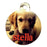 "1.25"" x 1.5"" Gloss WhiteAluminum Round Pet Tag"