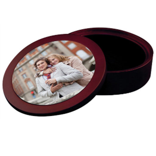 "5.625"" Mahogany CD/DVD/Jewelry Case with Aluminum Insert"