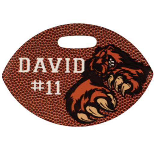 "4"" x 2.75"" UniSub FRP2-Sided Football Luggage Tag"