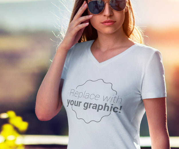 Graphic Tee HD Full Color V-Neck Shirt