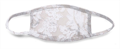 White Lace 1 - All Over Face Mask