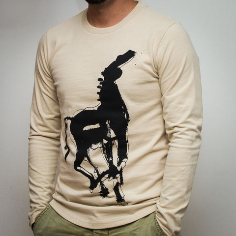 GỐC Studio Long Sleeve T-Shirt - Horse - Side Photo