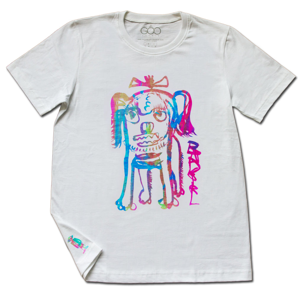 bad girl rainbow special edition - white unisex t-shirt