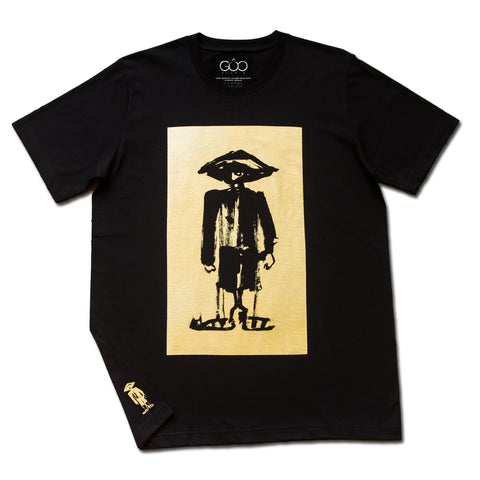 Rebel From the Block (Special Edition) - gold print on black unisex t-shirt
