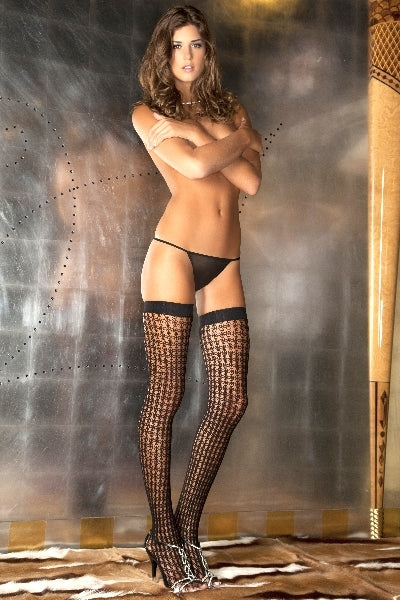 Quarter Crochet Net Thigh High
