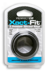 Xact-Fit Silicone Rings Mixed 3 Ring Kit