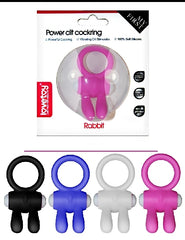Power Clit Cockring Rabbit Pink