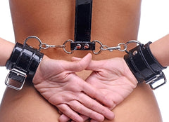 Bound Around Neck to Wrist Restraints
