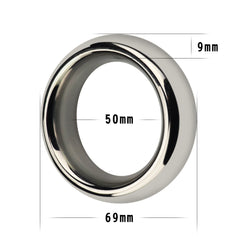 Stainless Steel Metal Silver Cockring 2 in