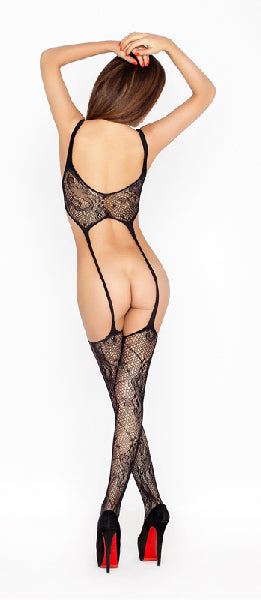 Bodystocking With Open Means Black