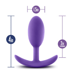 Luxe Wearable Vibra Slim Plug Medium Purple