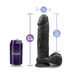 Au Naturel Bold Massive 9 Inch Dildo Black