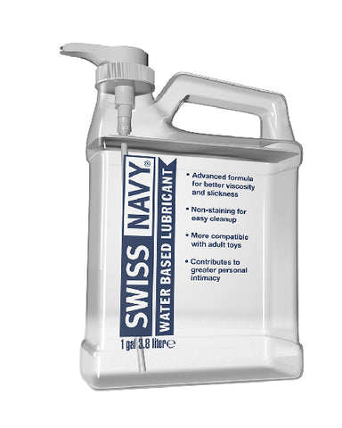 Swiss Navy Water Based Lubricant 1gal/3.8L