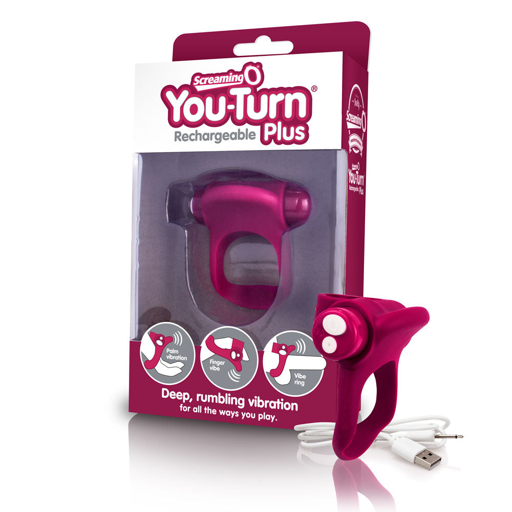 Charged You-Turn 2 Finger Fun Vibe - Merlot