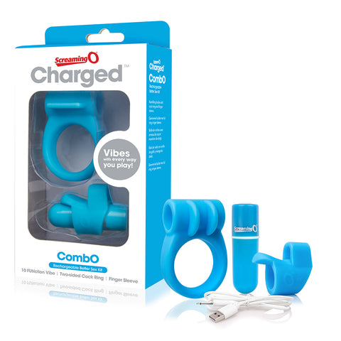 Charged Combo #1 with C-ring & Finger Sleeve- BLUE