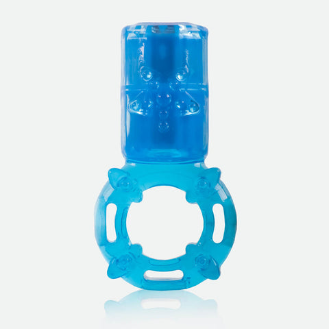 Charged Big OMG Vertical Vibrating Ring - Blue