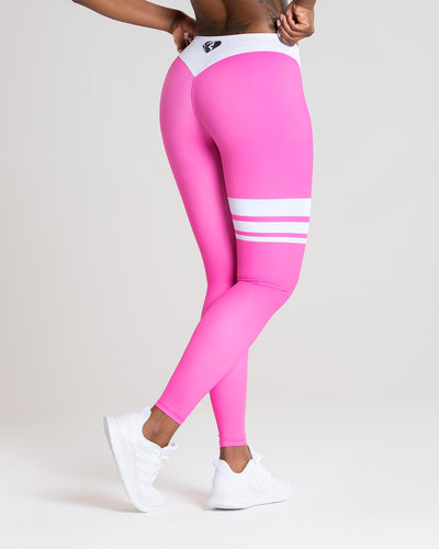Inspire Leggings | Pink/White