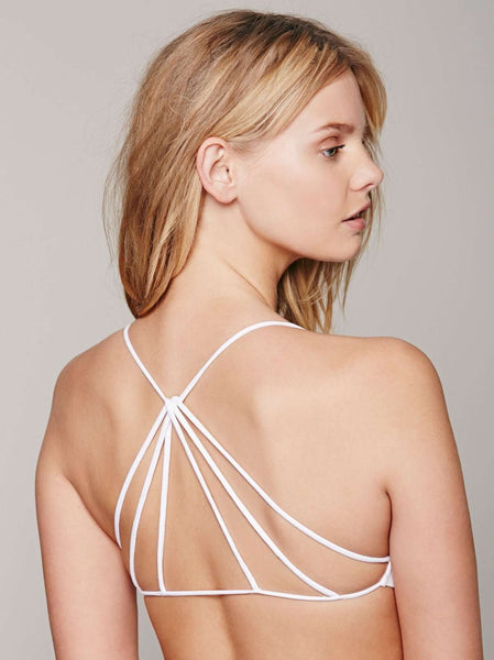 myyoga.love:Backless White Bralet,bralet
