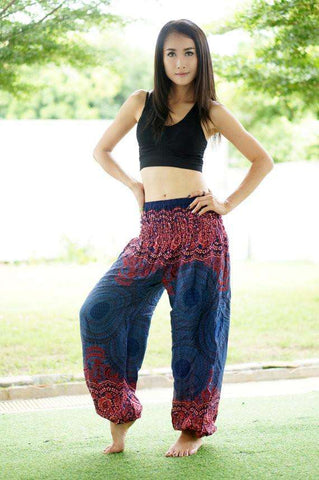myyoga.love:Pink Purple Spirals Boho Pantalon,boho pants