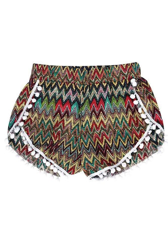 myyoga.love:Retro Boho Shorts,