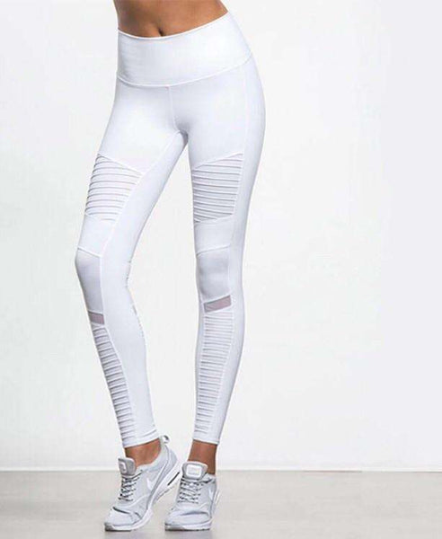 myyoga.love:Moto Leggings White,tayt