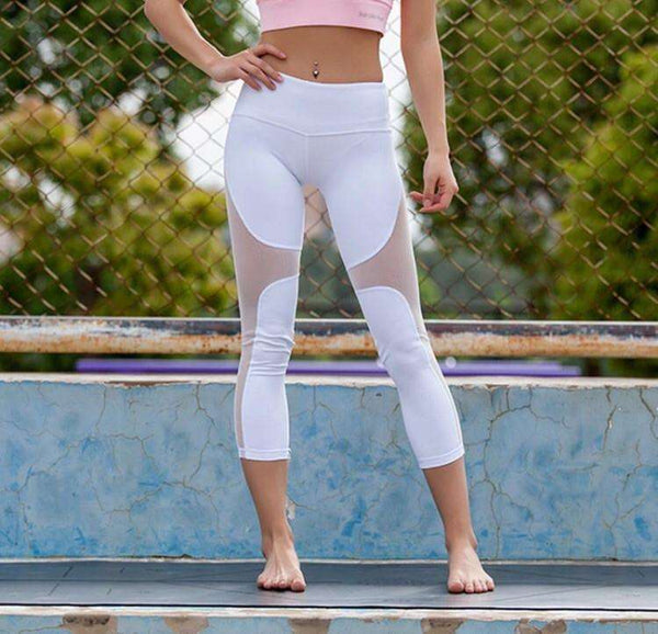 myyoga.love:Mermaid White Crop Tayt,tayt