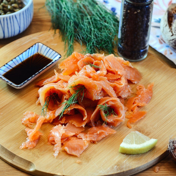 Smoked salmon chunks - 250Gr