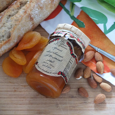 Apricots and Sliced Almonds Jam, France - 270Gr