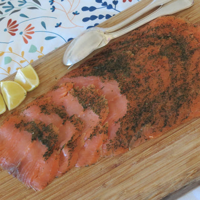 "Atlantic Salmon, Beechwood Smoked in the U.A.E., Marined ""Gravelax"" - 500Gr"