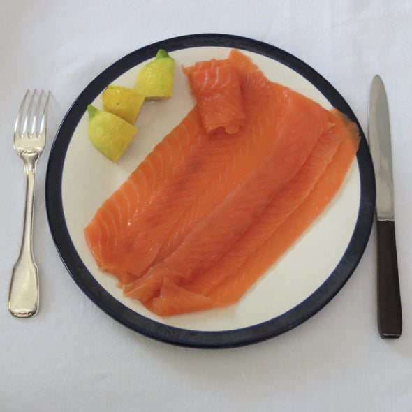 BEST BEFORE 06/07 - Atlantic Salmon, Beechwood Smoked in the U.A.E. - 200Gr