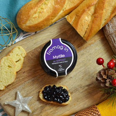 Blueberry & Breckland thyme jam, special cheese - 120Gr