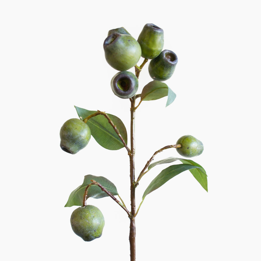 Realistic artificial gum nuts work well in any native display or bouquet