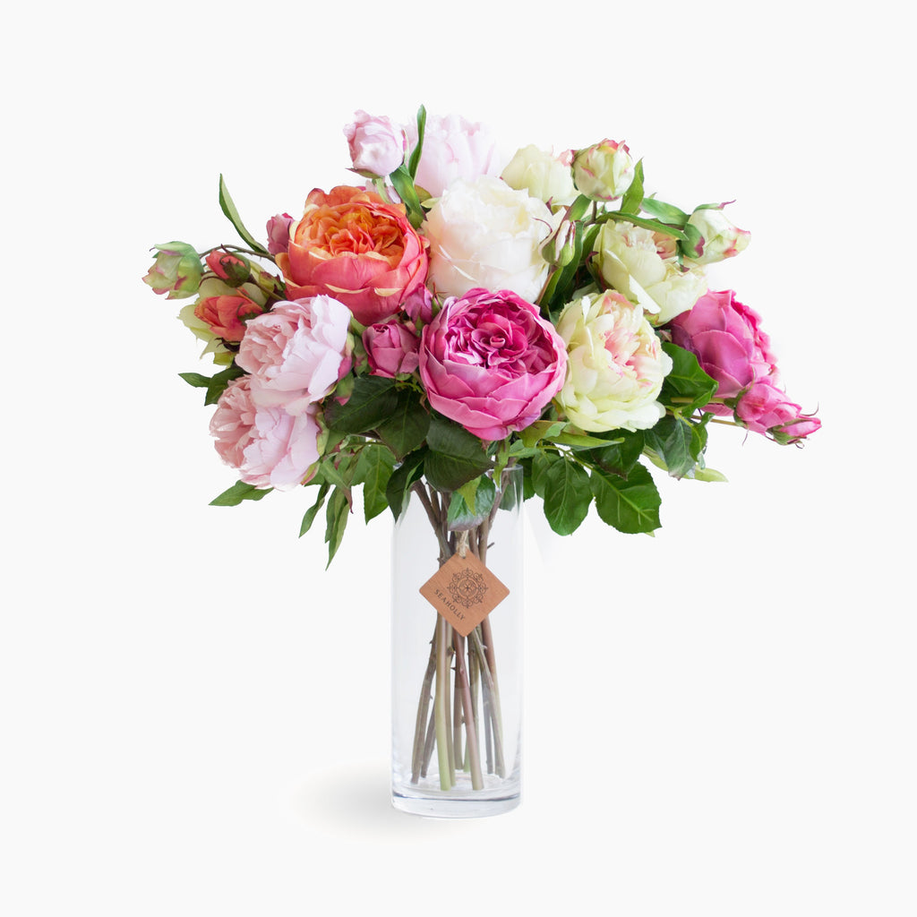 Mixed cabbage roses and peonies (Large)