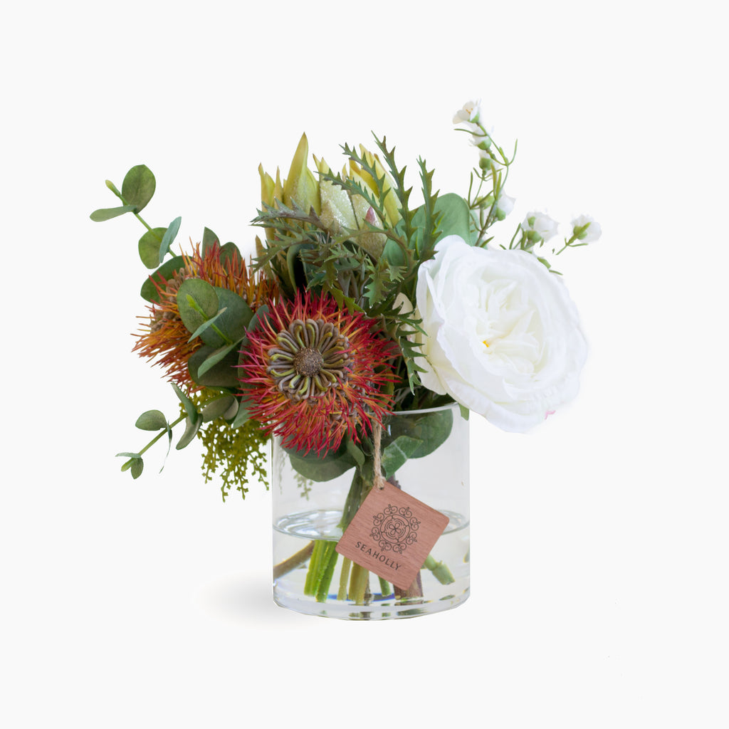 Leucospermum, protea and wax flower