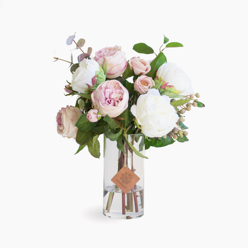 Dusty pink roses and peonies (Medium)