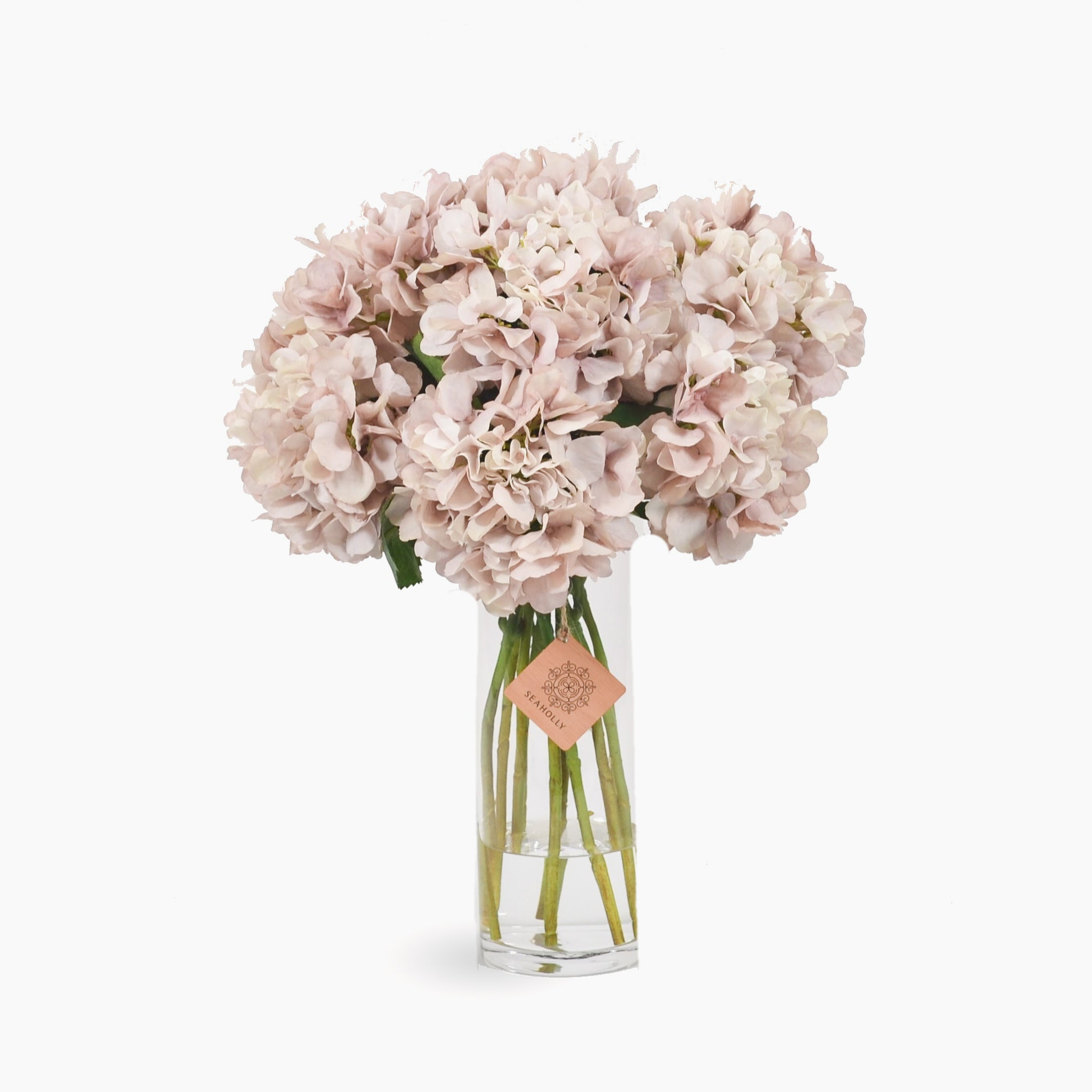 Soft pink hydrangea arrangement (Large)
