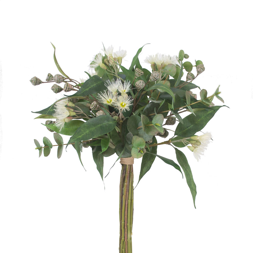 Eucalyptus blossom arrangement (cream)