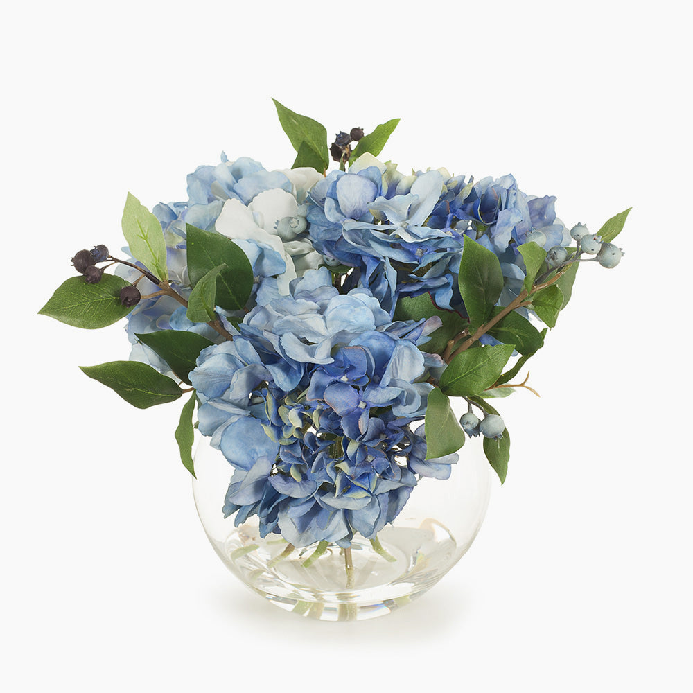 Blue hydrangea and berries (small)